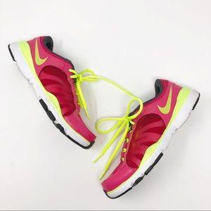 Nike Pink & Yellow Flex TR 2 Women's Training Shoe